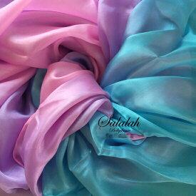 シルク100%グラデーションベール Blue/Purple/Pink sv0171 ブルー ピンク パープル ベリーダンス 衣装 コスチューム ドレス レッスンウェア レッスンウエア レッスン着 ステージ 発表会