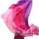 シルク100%グラデーションベール Juicy pink ピンク/パープル 高級シルク素材 ベリーダンス衣装 コスチューム ドレス…