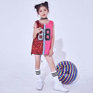 ダンス衣装 上下2点セット ヒップホップ ジャズダンス K-POPダンス セットアップ スパンコール バスケットタンクトップ バスタンク ショートパンツ 春 夏 Kポップ キラキラ ダンス大会 イベン