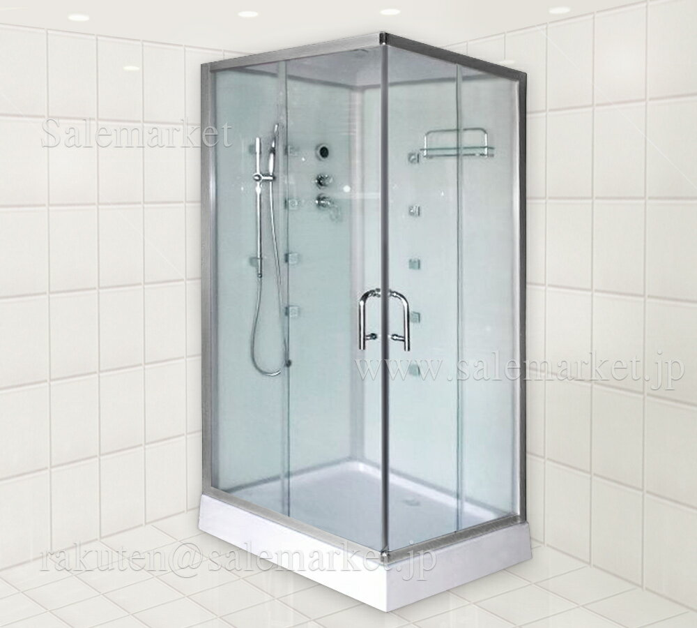 ■2年保証!組立出張サービス有!ショールーム商品展示 機能充実 ホテル/別荘/ログハウス/家庭用浴槽、白いパネルのシャワーブース、シャワールーム、シャワーユニット9053-WHITE■