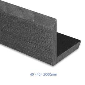 建築材料 住宅設備 高耐久の木材人工木ウッドデッキ部材【コーナーカバー・40x40x2000mm・グレー色】ベランダ テラス 庭造りに最適材料
