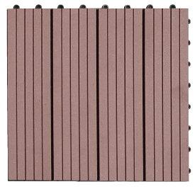 【300x300x22mm・ブラウン色】高品質人工木タイル・ウッドデッキタイル・ガーデニング材料・ベランダ、庭、バルコニー床、テラス作りに最適のフロアデッキパネル