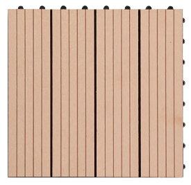 【300x300x22mm・黄色】高品質人工木タイル・ウッドデッキタイル・ガーデニング材料・ベランダ、庭、バルコニー床、テラス作りに最適のフロアデッキパネル
