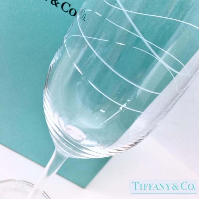 結婚祝い ペア 名入れ ティファニー Tiffany&Co. カデンツ シャンパン グラスセット 結婚祝い ペア 贈り物 プレゼント 記念品 退職祝い 引越し祝い 名入れギフト 内祝い ギフトセット おしゃれ ワイン お酒 ブランド 友達 友人 同僚 ワイングラス シャンパングラス
