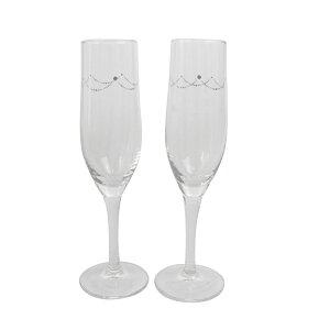 ペアグラス 名入れ 結婚祝い ペア 贈り物 スワロフスキー ウェディングストーン 名前入り オーダーメイド グラス シャンパングラス 送料無料 ギフト 結婚記念日 両親 誕生日プレゼント 誕生