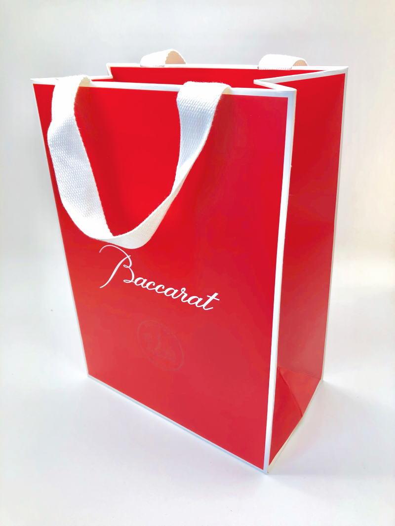 バカラグラス専用 手提げ袋 紙袋 手提げバッグ ギフト 結婚祝い ペアグラス プレゼント お返し 内祝い 内祝いお返し 記念品 ウェディングギフト ブライダルギフト 父の日