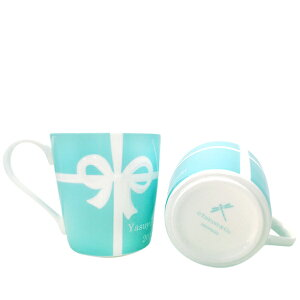 名入れティファニーTiffany&Co.ブルーボックスペアマグカップ