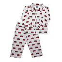 子供パジャマ かわいいパジャマ 出産祝い pixie dixie ロンドンバス柄襟付きパジャマ ナイトウエア、オーガニック、pureコットン…