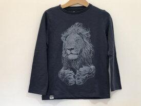 Tシャツ ライオン オーガニックコットン 長袖 秋冬 lionofleisure ライオンオブレイジャー ユニセックス 女の子 男の子 3才、4才、6才、7才、8才 9才