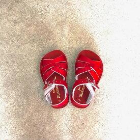 SALE saltwater ソルトウォーター サンダル 本革サンダル 水陸両用サンダル 水遊び オシャレ 男の子 女の子 swimmer 赤 レッド