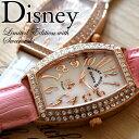 ディズニー 腕時計 ミッキー 腕時計 ミッキーマウス 腕時計 DISNEY レクタングル 腕時計 全3色 本牛革ベルト レザー スワロフスキー ミッキー ウォッ...
