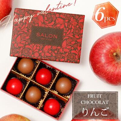 【SALONFRUITSPROJECT】SALONadametrope'オリジナルフルーツショコラ(アップル6個入)