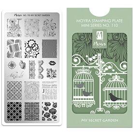 Moyra(モイラ):スタンピングプレート ミニ/No.110 My Secret Garden//ネイルスタンプ/ジェルスタンプ/スタンピングアート/シャイニージェル/ジェルネイル