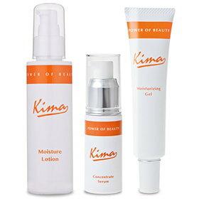 Kima キーマ 3点セット(2)化粧水:モイスチャーローション/美容液:コンセントレートセラム/保湿クリーム:モイスチャーライジングジェル ヒアルロン酸 アスタキサンチン ビタミンC誘導体 プロテオグリカン セラミド コラーゲン
