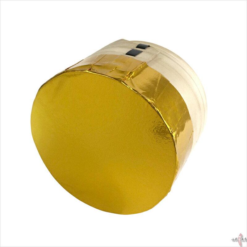 金的 三寸 木製枠 金紙付き弓道 【ラッキーシール対応】I-007