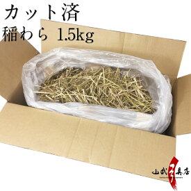 稲わら 藁 国産 カット済 わら 1.5kgわら ワラ 敷き藁 敷きわら ガーデニング 肥料 カツオ たたき商品番号 Z-003送料は注文数ごとにかかります