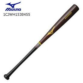 ミズノ MIZUNO 1CJWH1538455 硬式用バンブーGF補強(木製/84cm/平均920g)硬式野球 木製バット【取り寄せ商品】55:コーヒーブラウン×ブラック 2019ss(1910)