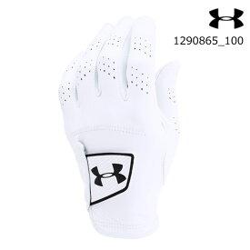 【メール便OK】アンダーアーマー UNDER ARMOUR 1290865_100 UA JSツアーグローブ(ゴルフ/グローブ/MEN)メンズ ゴルフ手袋 UA Jordan Spieth To【取り寄せ商品】White (100)