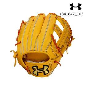 アンダーアーマー UNDER ARMOUR 1341847_103 <硬式>UA内野手用グラブ(ベースボール/硬式グラブ/右投げ内野手用/MEN)野球 メンズ UA BL HB NY Infielder Glove (R)【取り寄せ商品】【103】AMB