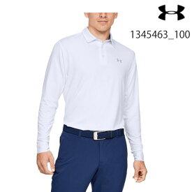 アンダーアーマー UNDER ARMOUR UA UAロングスリーブ プレーオフ2.0 ポロ(ゴルフ/MEN)メンズ 長袖ポロシャツ Long Sleeve Playoff 2.0 Polo 1345463_100【取り寄せ商品】White/Mod Gray 20FW(2012)