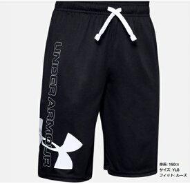 【メール便送料無料】アンダーアーマー UNDER ARMOUR UAプロトタイプ スーパーサイズ ショーツ(トレーニング/BOYS)ジュニア ボーイズ ハーフパンツ UA Prototype Supersized Shorts 1351750_001【取り寄せ商品】Black/White 20ss(2008)