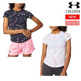 【あす楽対応】【メール便送料無料】アンダーアーマーUNDER ARMOUR 1351654 UAライブ プリント ワードマーク Tシャツ(トレーニング/GIRLS)ジュニア ガールズ 半袖Tシャツ【メール便OK】(20SS)(2004)【20SSクリアランス】