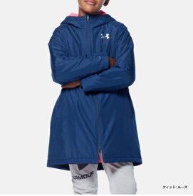 アンダーアーマー UNDER ARMOUR UAインサレート ロングコート(トレーニング/BOYS)ジュニア ボーイズ アウター 1347322 409 ADY/WHT UA Insulated Long Coat ネイビー【取り寄せ商品】(202103)