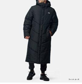 アンダーアーマー UNDER ARMOUR UAビッグロゴ ロングコート(トレーニング/MEN)メンズ 1358830 001 BLK UA BIG LOGO LONG COAT【取り寄せ商品】(202103)
