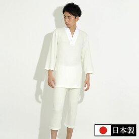 【今だけ1万円以上で送料無料】遠赤外線カシミヤ入りTシャツ半襦袢(上下セット)(M-LL)