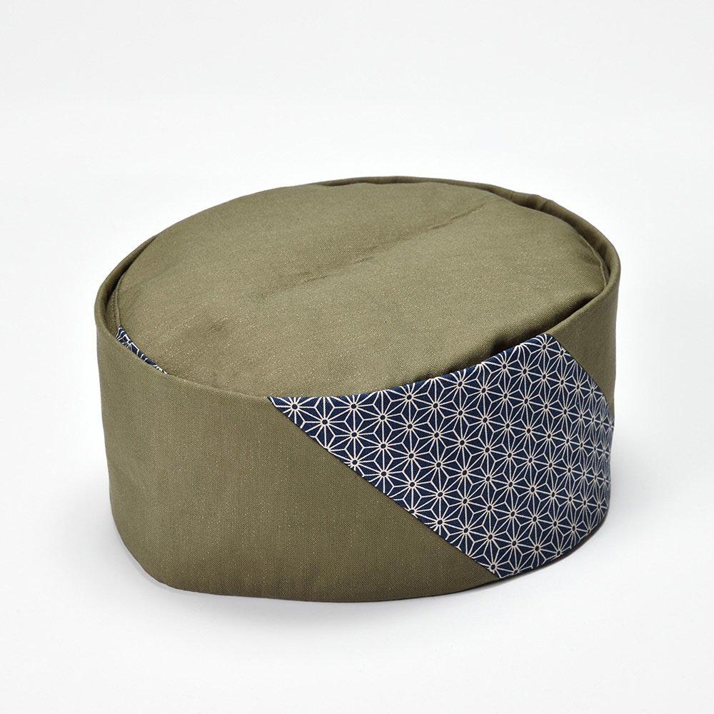 利休帽・和帽子/うぐいす利休帽 麻の葉柄(L)/男性 紳士 メンズ