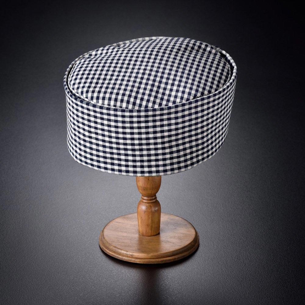 利休帽・和帽子/松阪木綿 正藍格子ギンガムチェック利休帽(L)/男性 紳士 メンズ
