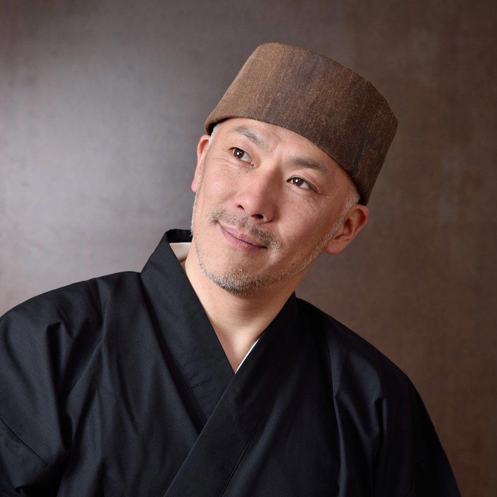 利休帽・和帽子/柿渋ムラ染帆布 濃茶 利休帽(S-M)/男性 紳士 メンズ