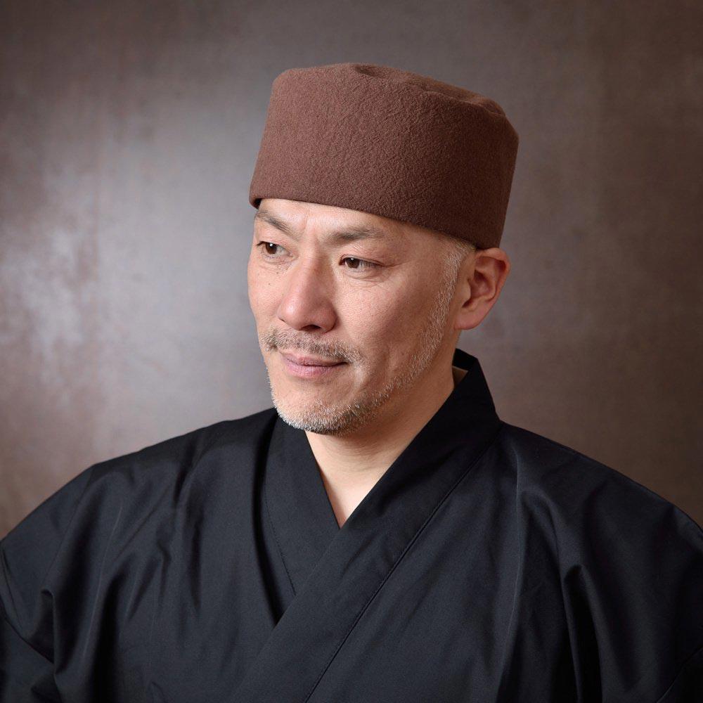 利休帽・和帽子/手作り綿麻無地利休帽 茶(L)/男性 紳士 メンズ