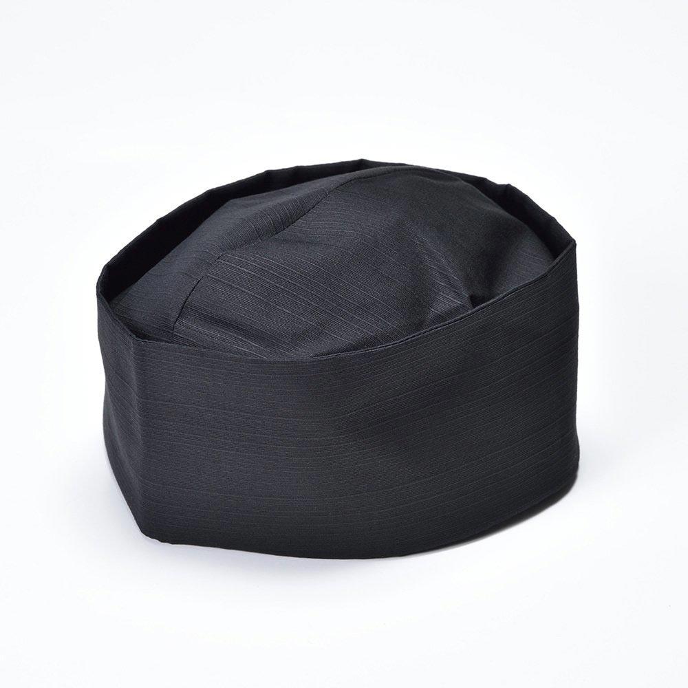 利休帽・和帽子/茶匠形 綿無地利休帽 黒(L)/男性 紳士 メンズ
