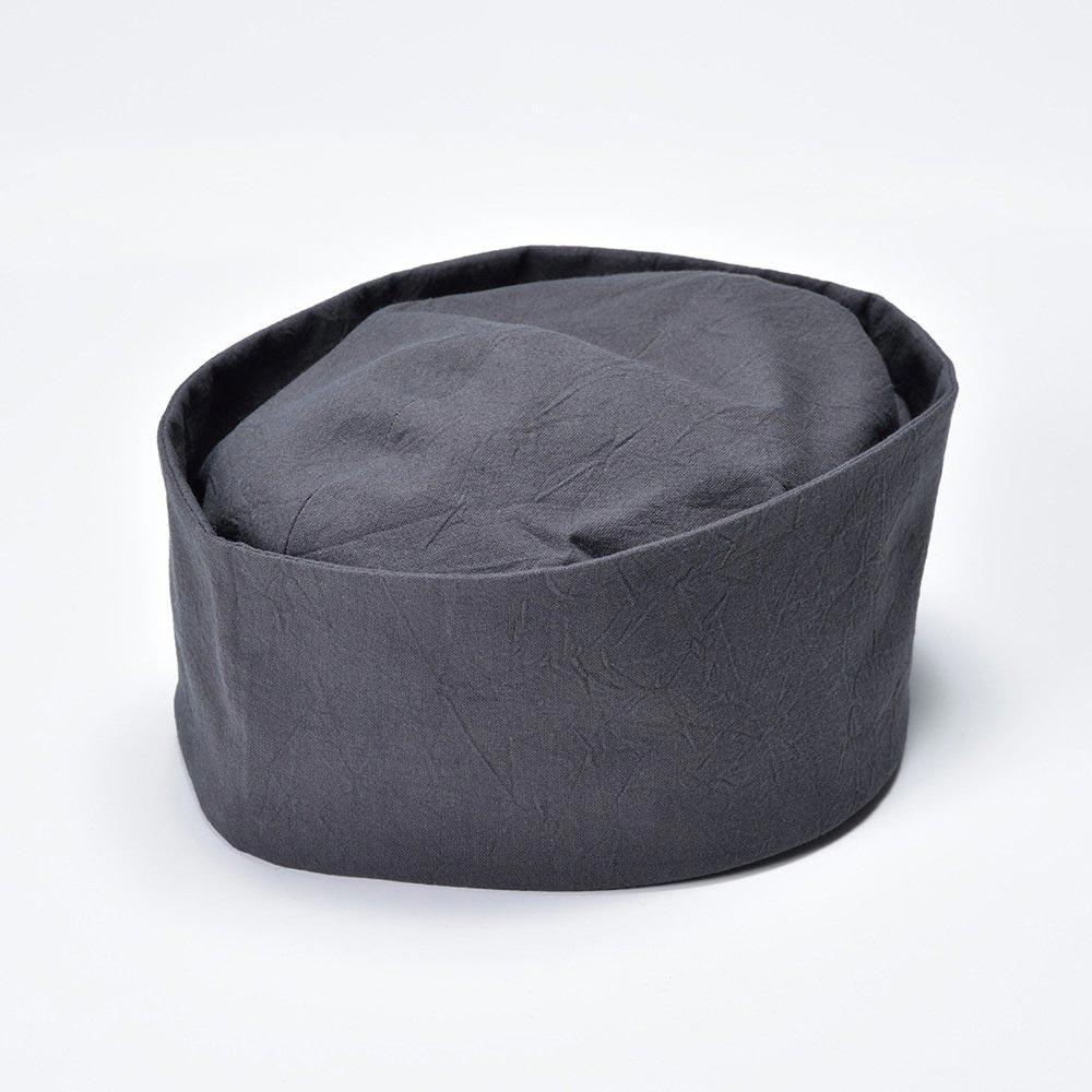 利休帽・和帽子/茶匠形 綿無地利休帽 灰(S-M)/男性 紳士 メンズ