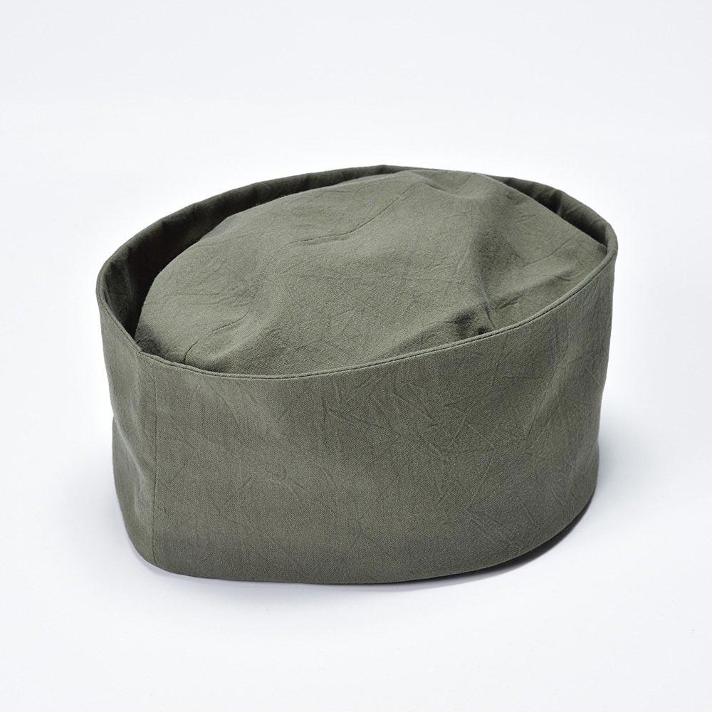 利休帽・和帽子/茶匠形 綿無地利休帽 緑(S-M)/男性 紳士 メンズ