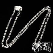 【SamuraiCraft】サムライクラフトネックレスチェーン細45cm50cmペンダントオリジナルネックレスシルバーアクセサリーSV925SV9500601楽天カード分割