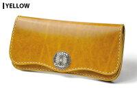 【サムライクラフト】ロングウォレットB-6ルガトショルダーレッドネイビーオレンジブラウングリーンブラックワインイエローパープル革財布ハンドメイド経年変化ベジタブルタンニンなめし本革