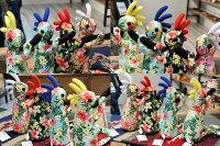 【Locopelli】ロコペリハイビスカス柄Mサイズドール人形雑貨ストラップココペリハンドメイド0601楽天カード分割