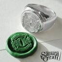 【Samurai Craft】 サムライクラフト シグネットリング シルバー ロゴ 刻印 印章 判子 印璽 アクセサリー SV925 New_SC 0601 楽天カー…
