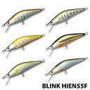 【BLINK】 ブリンク オリジナルルアーズ シンキングミノー BLINK55飛燕 F型 2.4g 飛燕 釣り ルアー フィッシングツール アウトドア 060…