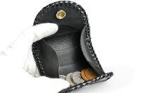 【サムライクラフト】ボックスコインケースL-2Atype8クロコダイルブラックボックス型コインケース小銭入れハンドメイドサドルオイルヌメ革経年変化ベジタブルタンニンなめし本革