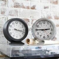【DULTON】ダルトンK925-1256ボフミルクロックブラックカーキBOHUMILCLOCKBLACKKHAKI置き時計アナログレトロインテリア寝室リビング0601楽天カード分割