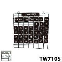 【SPICEOFLIFE】スパイスTW710SBK万年カレンダーSサイズブラックホワイトPRIMITIVEアンティークカレンダー暦置物0601楽天カード分割