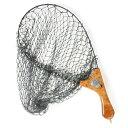 インスタネット ランディングネット 釣り たも網 伸縮 折り畳み カリン 花梨瘤 杢目 木製 高級 サムライクラフト オリジナル ロゴ ハ…