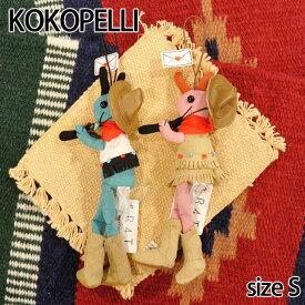 【Kokopelli】 ココペリ カウボーイ カウガール Sサイズ ストラップ ドール 人形 ネイティブ ハンドメイド 0601楽天カード分割