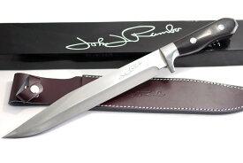 JOHN RAMBO ランボーナイフ 12-1 ロングサイズ・サバイバルナイフ 極厚6mmブレード 黒檀ハンドル ヘキサゴンテール 堅牢なフルタング構造 FIRST BLOOD KNIFE アウトドア ハンティング