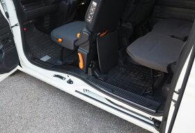 ホンダN-VANNVANサイドステップ内側スカッフプレート滑り止め付き4P選べる2カラーシルバーヘアラインブラックヘアラインHONDAN-VAN専用設計カスタムドレスアップパーツアクセサリー
