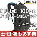 【返品保証】 リュックサック CAMELBAK キャメルバック M.U.L.E ミュール ハイドレーションパック 100oz チャコール ロードバイク MTB ...