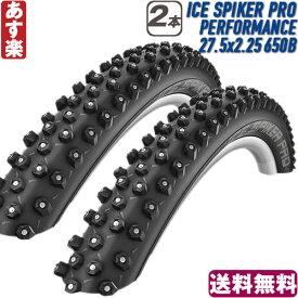 【返品保証】 スパイク タイヤ Schwalbe シュワルベ ICE SPIKER PRO PERFORMANCE アイススパイカープロ パフォーマンス スパイク マウンテンバイク MTB タイヤ 2本セット 27.5x2.25 650B 送料無料 【あす楽】